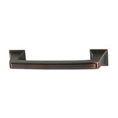 Amerock Mulholland Collection (4-4/7''W) Handle, Oil-Rubbed Bronze, 116mm W x 21mm D x 29mm H, 96mm Center to Center
