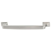 Amerock Westerly Collection (6-1/4''W) Handle, Satin Nickel, 159mm W x 14mm D x 33mm H, 128mm Center to Center