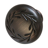Amerock Nature's Splendor Collection (1-2/7'' Dia.) Round Knob, Oil-Rubbed Bronze, 33mm Diameter