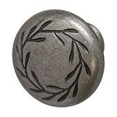 Amerock Nature's Splendor Collection (1-2/7'' Dia.) Round Knob, Weathered Nickel, 33mm Diameter
