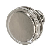 Amerock Oberon Collection (1-3/8'' Dia.) Round Knob, Polished Nickel, 35mm Diameter