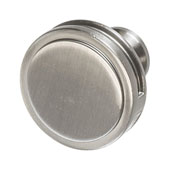 Amerock Oberon Collection (1-3/8'' Dia.) Round Knob, Satin Nickel, 35mm Diameter
