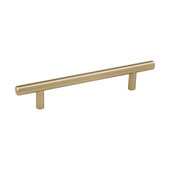 Amerock Collection (10''W) Bar Pull, Golden Champagne, 252mm W x 13mm D x 35mm H, 192mm Center to Center