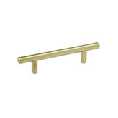 Amerock Collection (5-2/5''W) Bar Pull, Golden Champagne, 137mm W x 13mm D x 35mm H, 76mm Center to Center