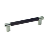 Amerock Esquire Collection (7-1/5''W) Handle, Satin Nickel/ Oil-Rubbed Bronze, 183mm W x 16mm D x 38mm H, 160mm Center to Center