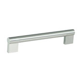 Amerock Kontur Collection (6''W) Handle, Satin Nickel, 152mm W x 16mm D x 38mm H, 128mm Center to Center