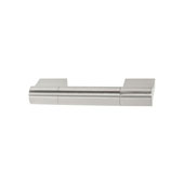 Amerock Kontur Collection (4''W) Handle, Satin Nickel, 102mm W x 16mm D x 38mm H, 76mm Center to Center