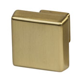 Amerock Blackrock Collection (1-1/6''W) Square Knob, Golden Champagne, 30mm W x 30mm D x 27mm H