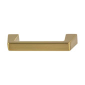 Amerock Blackrock Collection (3-3/4''W) Handle, Golden Champagne, 95mm W x 14mm D x 27mm H, 76mm Center to Center