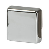 Amerock Blackrock Collection (1-1/6''W) Square Knob, Polished Nickel, 30mm W x 30mm D x 27mm H