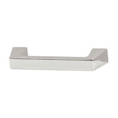 Amerock Blackrock Collection (4-3/5''W) Handle, Polished Nickel, 117mm W x 14mm D x 30mm H, 96mm Center to Center