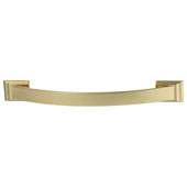 Amerock Candler Collection (6-4/7''W) Handle, Golden Champagne, 167mm W x 21mm D x 32mm H, 128mm Center to Center