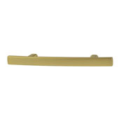 Amerock Cyprus Collection (5-1/4''W) Handle, Golden Champagne, 133mm W x 10mm D x 27mm H, 76mm Center to Center