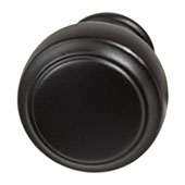 Amerock Highland Ridge Collection (1-1/6'' Dia.) Round Knob, Black Bronze, 30mm Diameter