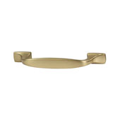 Amerock Highland Ridge Collection (4-1/3''W) Handle, Gold Champagne, 110mm W x 11mm D x 27mm H, 76mm Center to Center