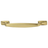 Amerock Highland Ridge Collection (6-3/5''W) Handle, Gold Champagne, 168mm W x 16mm D x 32mm H, 128mm Center to Center