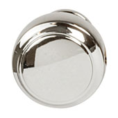 Amerock Highland Ridge Collection (1-1/6'' Dia.) Round Knob, Polished Nickel, 30mm Diameter