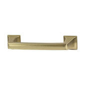 Amerock Mulholland Collection (4-4/7''W) Handle, Gold Champagne, 116mm W x 21mm D x 29mm H, 96mm Center to Center