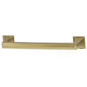 Amerock Mulholland Collection (5-6/7''W) Handle, Gold Champagne, 149mm W x 22mm D x 32mm H, 128mm Center to Center