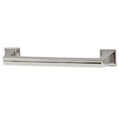 Amerock Mulholland Collection (5-6/7''W) Handle, Polished Nickel, 149mm W x 22mm D x 32mm H, 128mm Center to Center