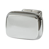 Amerock Revitalize Collection (1-1/4''W) Knob, Polished Nickel, 32mm W x 22mm D x 30mm H