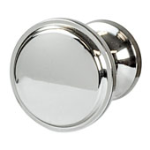 Amerock Westerly Collection (1-1/6'' Dia.) Round Knob, Polished Nickel, 30mm Diameter