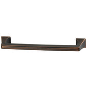 Design Deco Series Amerock Mulholland Collection Zinc Appliance Handle in Oil-Rubbed Bronze, 335mm W x 49mm D x 32mm H (13-3/16'' W x 1-15/16'' D x 1-1/4'' H), Center to Center: 304.8mm (12'')