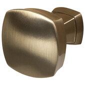 Design Deco Series Amerock Stature Collection Zinc Square Knob in Champagne Bronze, 32mm W x 32mm D x 32mm H (1-1/4'' W x 1-1/4'' D x 1-1/4'' H)