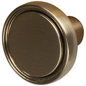 Design Deco Series Amerock Destine Collection Zinc Round Knob in Champagne Bronze, 35mm Diameter x 25mm D (1-3/8'' Diameter x 1'' D)