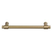 Design Deco Series Amerock Destine Collection Zinc Handle in Champagne Bronze, 157mm W x 33mm D x 10mm H (6-3/16'' W x 1-5/16'' D x 3/8'' H), Center to Center: 128mm (5-1/16'')