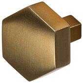 Design Deco Series Amerock Caliber Collection Zinc Hexagon Knob in Champagne Bronze, 32mm W x 30mm D x 27mm H (1-1/4'' W x 1-3/16'' D x 1-1/16'' H)