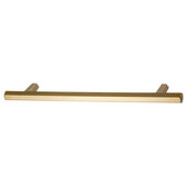 Design Deco Series Amerock Caliber Collection Zinc Handle in Champagne Bronze, 214mm W x 32mm D x 13mm H (8-7/8'' W x 1-1/4'' D x 1/2'' H), Center to Center: 160mm (6-5/16'')