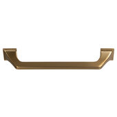 Design Deco Series Amerock Exceed Collection Zinc Handle in Champagne Bronze, 152mm W x 35mm D x 22mm H (6'' W x 1-3/8'' D x 5/16'' H), Center to Center: 128mm (5-1/16'')