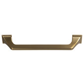 Design Deco Series Amerock Exceed Collection Zinc Handle in Champagne Bronze, 184mm W x 35mm D x 22mm H (7-1/4'' W x 1-3/8'' D x 5/16'' H), Center to Center: 160mm (6-5/16'')