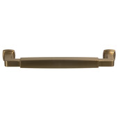 Design Deco Series Amerock Stature Collection Zinc Handle in Champagne Bronze, 179mm W x 35mm D x 14mm H (7-1/16'' W x 1-3/8'' D x 9/16'' H), Center to Center: 160mm (6-5/16'')