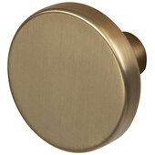 Design Deco Series Amerock Versa Collection Zinc Round Knob in Champagne Bronze, 35mm Diameter x 25mm D (1-3/8'' Diameter x 1'' D)