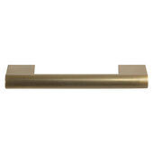 Design Deco Series Amerock Versa Collection Zinc Handle in Champagne Bronze, 119mm W x 33mm D x 13mm H (4-11/16'' W x 1-5/16'' D x 1/2'' H), Center to Center: 96mm (3-3/4'')