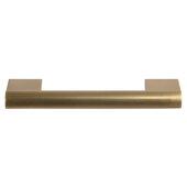 Design Deco Series Amerock Versa Collection Zinc Handle in Champagne Bronze, 151mm W x 33mm D x 13mm H (5-15/16'' W x 1-5/16'' D x 1/2'' H), Center to Center: 128mm (5-1/16'')
