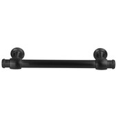 Design Deco Series Amerock Winsome Collection Zinc Handle in Matte Black, 135mm W x 35mm D x 11mm H (5-5/16'' W x 1-3/8'' D x 7/16'' H), Center to Center: 96mm (3-3/4'')
