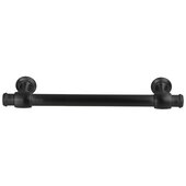 Design Deco Series Amerock Winsome Collection Zinc Handle in Matte Black, 165mm W x 35mm D x 11mm H (6-1/2'' W x 1-3/8'' D x 7/16'' H), Center to Center: 128mm (5-1/16'')