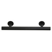 Design Deco Series Amerock Radius Collection Stainless Steel Handle in Matte Black, 146mm W x 32mm D x 11mm H (5-3/4'' W x 1-1/4'' D x 7/16'' H), Center to Center: 96mm (3-3/4'')