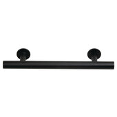 Design Deco Series Amerock Radius Collection Stainless Steel Handle in Matte Black, 179mm W x 32mm D x 11mm H (7-1/16'' W x 1-1/4'' D x 7/16'' H), Center to Center: 128mm (5-1/16'')