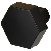 Design Deco Series Amerock Caliber Collection Zinc Knob in Matte Black, 32mm W x 30mm D x 27mm H (1-1/4'' W x 1-3/16'' D x 1-1/16'' H)