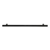 Design Deco Series Amerock Caliber Collection Zinc Handle in Matte Black, 214mm W x 32mm D x 13mm H (8-7/8'' W x 1-1/4'' D x 1/2'' H), Center to Center: 160mm (6-5/16'')