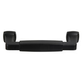 Design Deco Series Amerock Stature Collection Zinc Handle in Matte Black, 116mm W x 35mm D x 14mm H (4-9/16'' W x 1-3/8'' D x 9/16'' H), Center to Center: 96mm (3-3/4'')