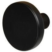 Design Deco Series Amerock Versa Collection Zinc Knob in Matte Black, 35mm Diameter x 25mm D (1-3/8'' Diameter x 1'' D)
