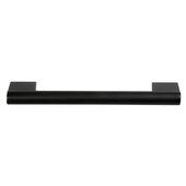 Design Deco Series Amerock Versa Collection Zinc Handle in Matte Black, 151mm W x 33mm D x 13mm H (5-15/16'' W x 1-5/16'' D x 1/2'' H), Center to Center: 128mm (5-1/16'')