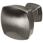 Design Deco Series Amerock Stature Collection Zinc Knob in Satin Nickel, 32mm W x 32mm D x 32mm H (1-1/4'' W x 1-1/4'' D x 1-1/4'' H)