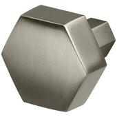 Design Deco Series Amerock Caliber Collection Zinc Knob in Satin Nickel, 32mm W x 30mm D x 27mm H (1-1/4'' W x 1-3/16'' D x 1-1/16'' H)