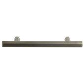 Design Deco Series Amerock Caliber Collection Zinc Handle in Satin Nickel, 149mm W x 32mm D x 13mm H (5-7/8'' W x 1-1/4'' D x 1/2'' H), Center to Center: 96mm (3-3/4'')
